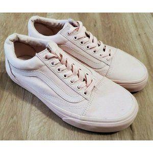 Vans Womens Mono Canvas Old Skool Pink Sneakers 8